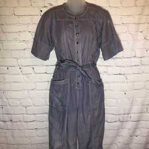 Madewell Top Stitched Coverall Jumpsuit 4 FLAWS